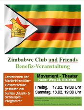 Benefizveranstaltung für Zimbabwe-AG, Termine am 17.02. und 18.02.2017 jeweils um 19 Uhr im Movement-Theater, Haller Weg 38, 33617 Bielefeld